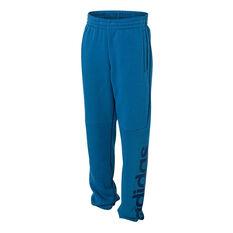 adidas Boys Essentials Linear Pants Blue 8 Junior, Blue, rebel_hi-res