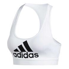 adidas Womens Don't Rest Novelty Sports Bra, White, rebel_hi-res