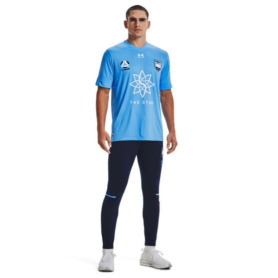 Sydney FC 2021/22 Mens Replica Home Jersey Blue S, Blue, rebel_hi-res