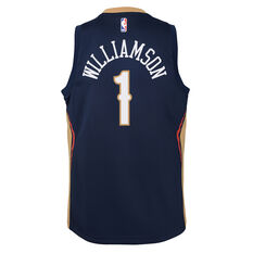 Nike New Orleans Pelicans Zion Williamson 2019/20 Kids Icon Edition Swingman Jersey Navy S, Navy, rebel_hi-res