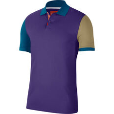 Nike Mens Heritage Polo Purple XS, Purple, rebel_hi-res