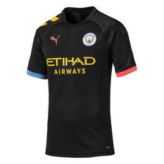 Manchester City FC 2019/20 Mens Away Jersey Black S, Black, rebel_hi-res