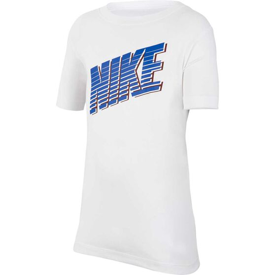 Nike Sportswear Boys Block Tee, White / Blue, rebel_hi-res