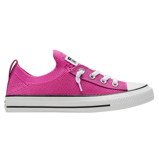 Converse Chuck Taylor All Star Shoreline Knit Low Top Womens Casual Shoes, Pink/Black, rebel_hi-res