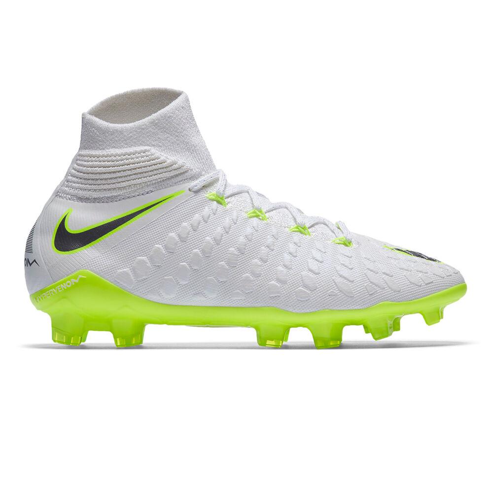new concept 0a24f 8c3cd Nike Hypervenom Phantom III Elite Dynamic Fit Junior Football Boots White /  Grey US 4