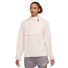 Nike Womens Dri-FIT Run Packable Pullover Jacket Pink XS, Pink, rebel_hi-res