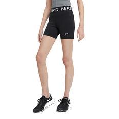Nike Pro Girls Shorts Black XS, Black, rebel_hi-res