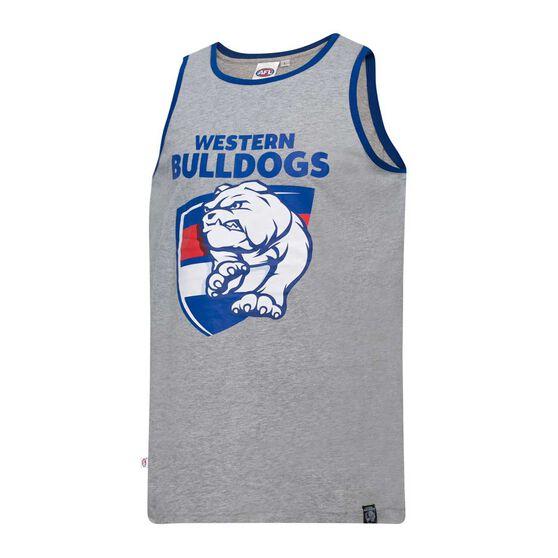 Western Bulldogs Mens Cotton Tank Singlet L, , rebel_hi-res