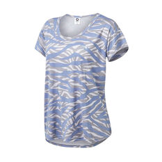 Running Bare Womens Always Relaxed Box Tee Purple 8, Purple, rebel_hi-res