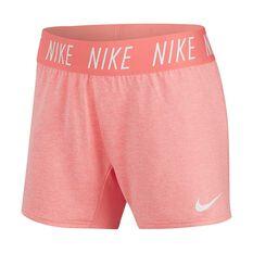 Nike Trophy Girls Training Shorts Pink / White XS, Pink / White, rebel_hi-res