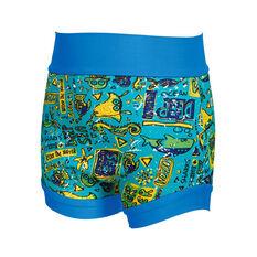 Zoggs Deep Sea Swim Swimsure Nappy Blue XS, Blue, rebel_hi-res