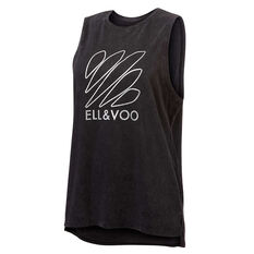 Ell & Voo Womens Taylor Muscle Tank Black XS, Black, rebel_hi-res