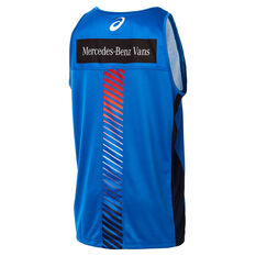 Western Bulldogs 2019 Mens Training Singlet Blue S, Blue, rebel_hi-res