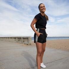 adidas Womens Sportswear Recycled Shorts Black XS, Black, rebel_hi-res
