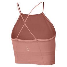 Nike Womens Yoga Infinalon Cropped Tank, Pink, rebel_hi-res