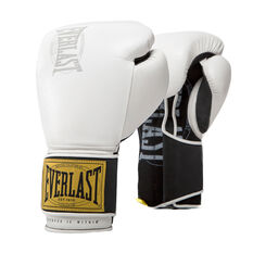 Everlast 1910 Classic Training Boxing Gloves White 12oz, White, rebel_hi-res