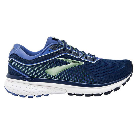 Brooks Ghost 12 Womens Running Shoes, Blue / Teal, rebel_hi-res