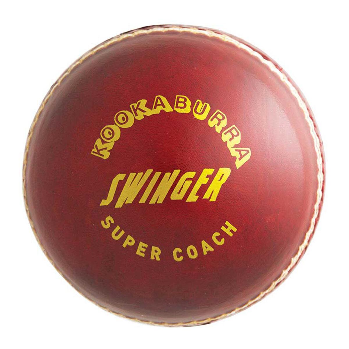 Cricket Training Ball Swing Demon Red White By Kookaburra