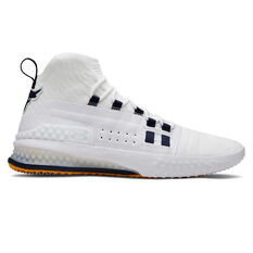 Under Armour Project Rock 1 Mens Training Shoes White / Blue US 7, White / Blue, rebel_hi-res