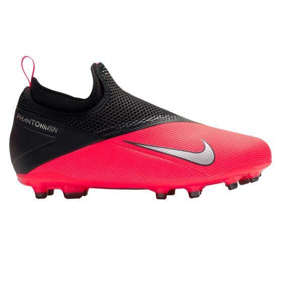 Nike Phantom Vision II Academy Kids Football Boots, Black / Red, rebel_hi-res