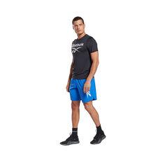 Reebok Mens Workout Ready ACTIVCHILL Graphic Tee, Black, rebel_hi-res