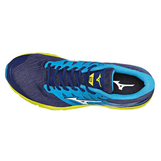 Mizuno Wave Prodigy 2 Mens Running Shoes, Blue / Yellow, rebel_hi-res