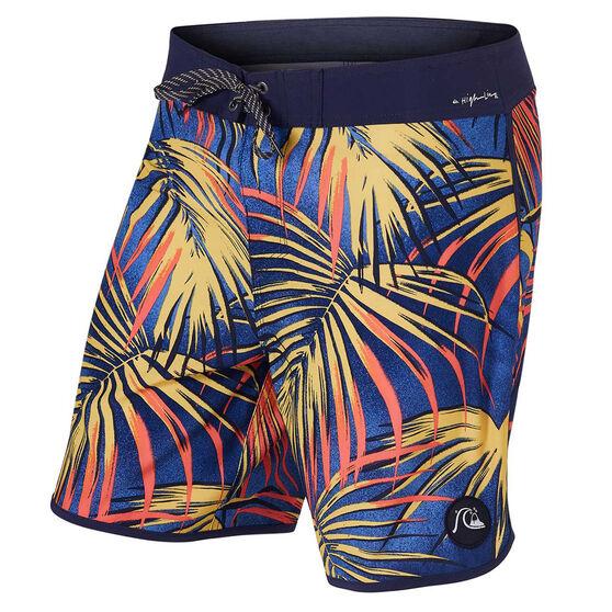 Quiksilver Mens Highline Sub Tropic 18 inch Board Shorts, Print, rebel_hi-res