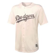 Majestic Mens Los Angeles Dodgers Tonal Replica Jersey White S, White, rebel_hi-res