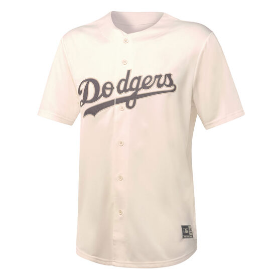 Majestic Mens Los Angeles Dodgers Tonal Replica Jersey, White, rebel_hi-res