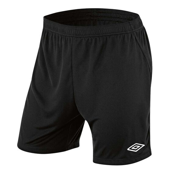 Umbro League Mens Football Shorts, Black, rebel_hi-res