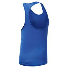 Reebok Womens Performance Mesh Tank Blue XS, Blue, rebel_hi-res
