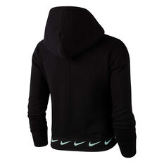 Nike Girls Sportswear Fleece Hoodie Black XS, Black, rebel_hi-res