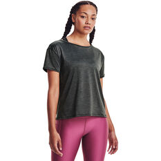 Under Armour Womens Tech Vent Tee Black XS, Black, rebel_hi-res