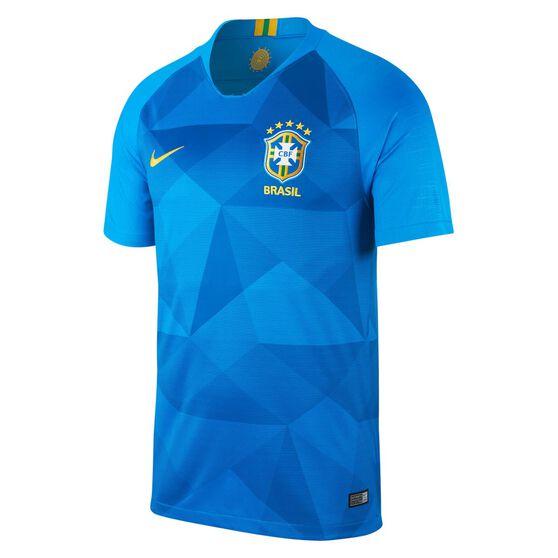5646e4c16 Brazil 2018 Mens Away Football Jersey Blue   Yellow S