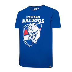Western Bulldogs Mens Supporter Logo Tee Blue S, Blue, rebel_hi-res