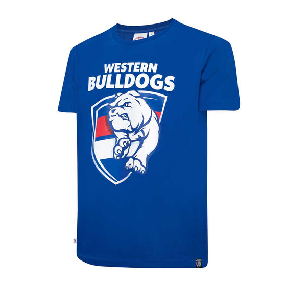 Western Bulldogs Mens Supporter Logo Tee, Blue, rebel_hi-res
