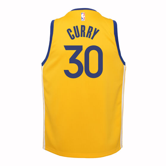 Nike Golden State Warriors Steph Curry 2019/20 Kids Statement Edition Swingman Jersey, Yellow, rebel_hi-res