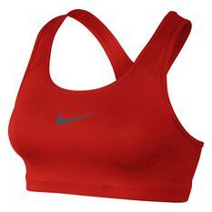 Nike Womens Swoosh Sports Bra Red  / Grey XS Adult, Red  / Grey, rebel_hi-res
