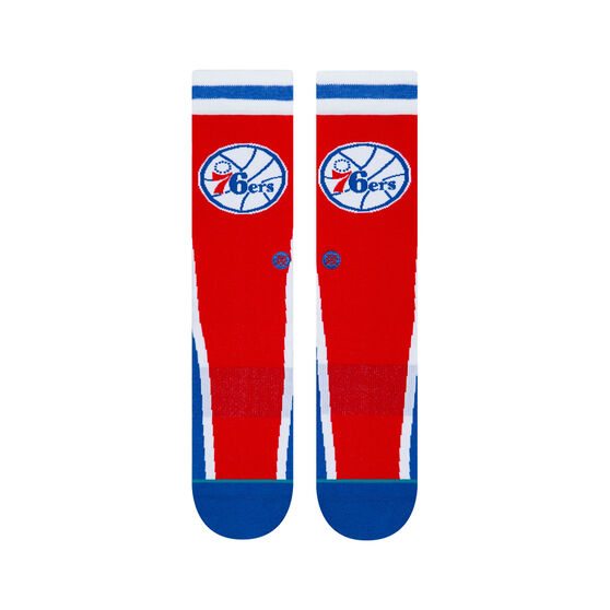 Stance Philadelphia 76ers HWC Warmup Socks Red, Red, rebel_hi-res