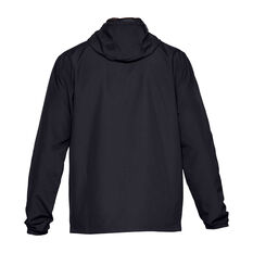 Under Armour Mens Sportstyle Windbreaker Jacket Black / White S, Black / White, rebel_hi-res