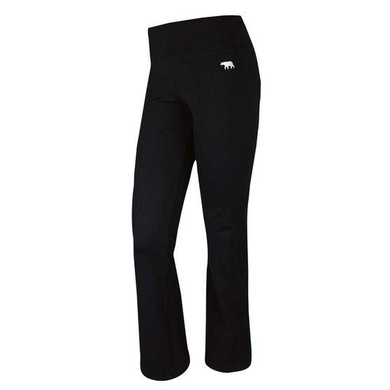 Running Bare Womens High Rise Jazz Pants, Black, rebel_hi-res