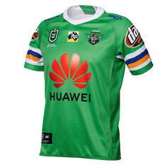 524b4d519 Canberra Raiders 2019 Mens Home Jersey Green S