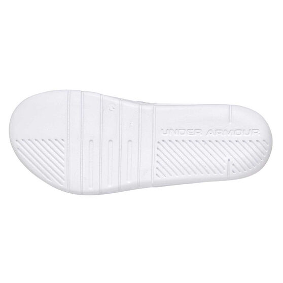 Under Armour Core Protect The House Mens Slides, White / Black, rebel_hi-res