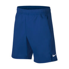 NikeCourt Boys Dri-FIT Shorts Blue / White XS, Blue / White, rebel_hi-res