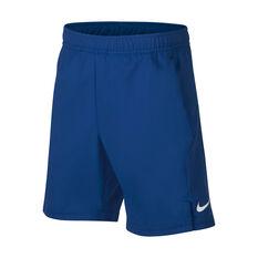 NikeCourt Boys Dri-FIT Shorts Blue / White XS, Blue / White, rebel_hi-res