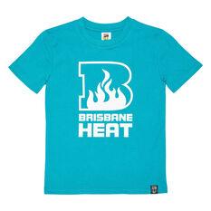 Brisbane Heat 2020/21 Kids Mono logo Tee Teal 6, Teal, rebel_hi-res