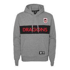 St George Illawarra Dragons 2021 Mens Hoodie Grey S, Grey, rebel_hi-res