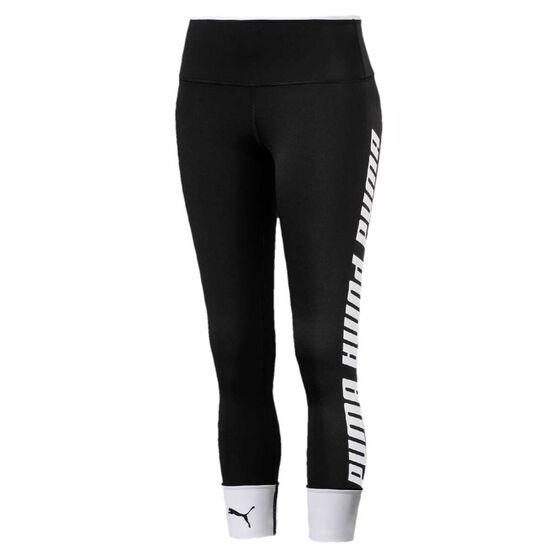 Puma Womens Modern Sports Foldup Tights, Black, rebel_hi-res