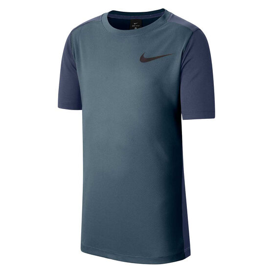 Nike Boys Instacool Training Tee, Blue, rebel_hi-res