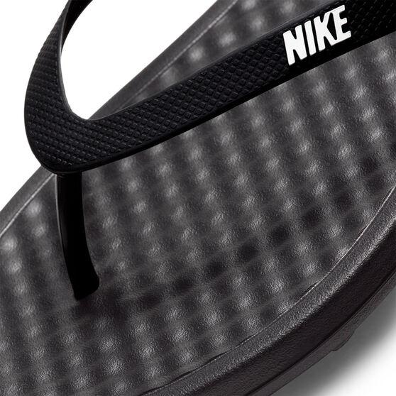 Nike On Deck Mens Thongs, Black/White, rebel_hi-res